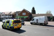 SCENE: The scene at the re-opened store after the robbery.Picture by Paul Jackson. 1715863002