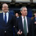 Worcester News: Ukip Leader Nigel Farage (right) with Mark Reckless, Ukip candidate for Rochester and Strood during a campaign walkabout in Rochester High Street, Kent