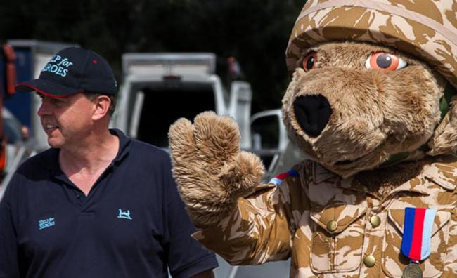 WALK: Tim Kidwell and Hero the Bear