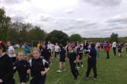 Staff and pupils took part in the run. SP (24935226)