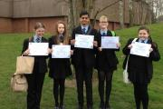 From left to right, Andrea Clews, Kerry Williams, Sukhraj Chahal, Ellie Hand and Taharlie Price.