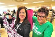 PREPERATIONS: Karin Brown, store manager, and Lynnette Key, are preparing for the store's charity fashion show.Picture by Jonathan Barry  2115879103