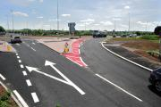 ROUNDABOUT: The redesigned exit road from the Ketch Roundabout leading to Carrington Bridge