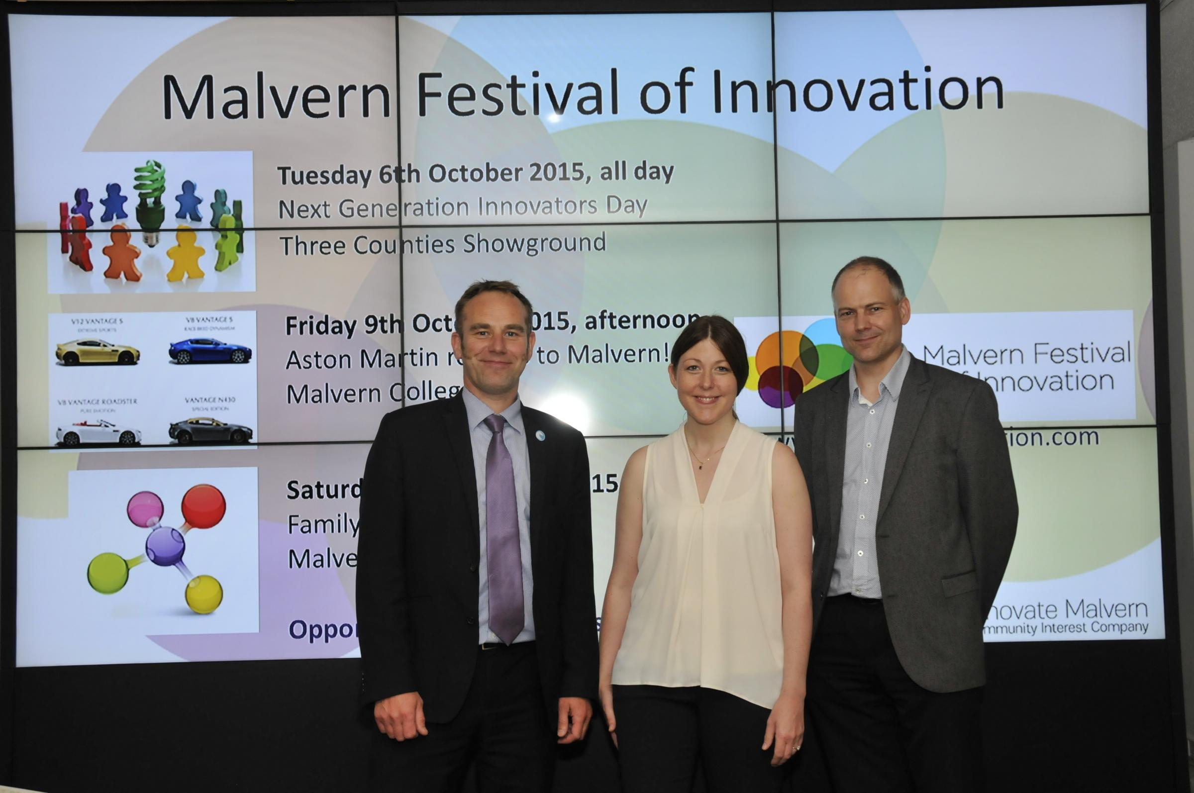 ENCOURAGE: urden, managing director of Innovate Malvern CIC with Cllr Rebecca Massey, portfolio holder for economic development and Simon Smith, economic development manger, both from Malvern Hills District Council.