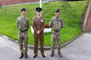 SUCCESS: Rhys Kesterton, corporeal Shane Husband and Callum Blake.Picture by Heart of Worcestershire College