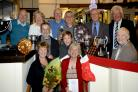 TROPHY PRESENTATION: Award winners at Broadwas Croquet Club's lunch at the Royal Oak in the village. Picture: JEREMY PARDOE.