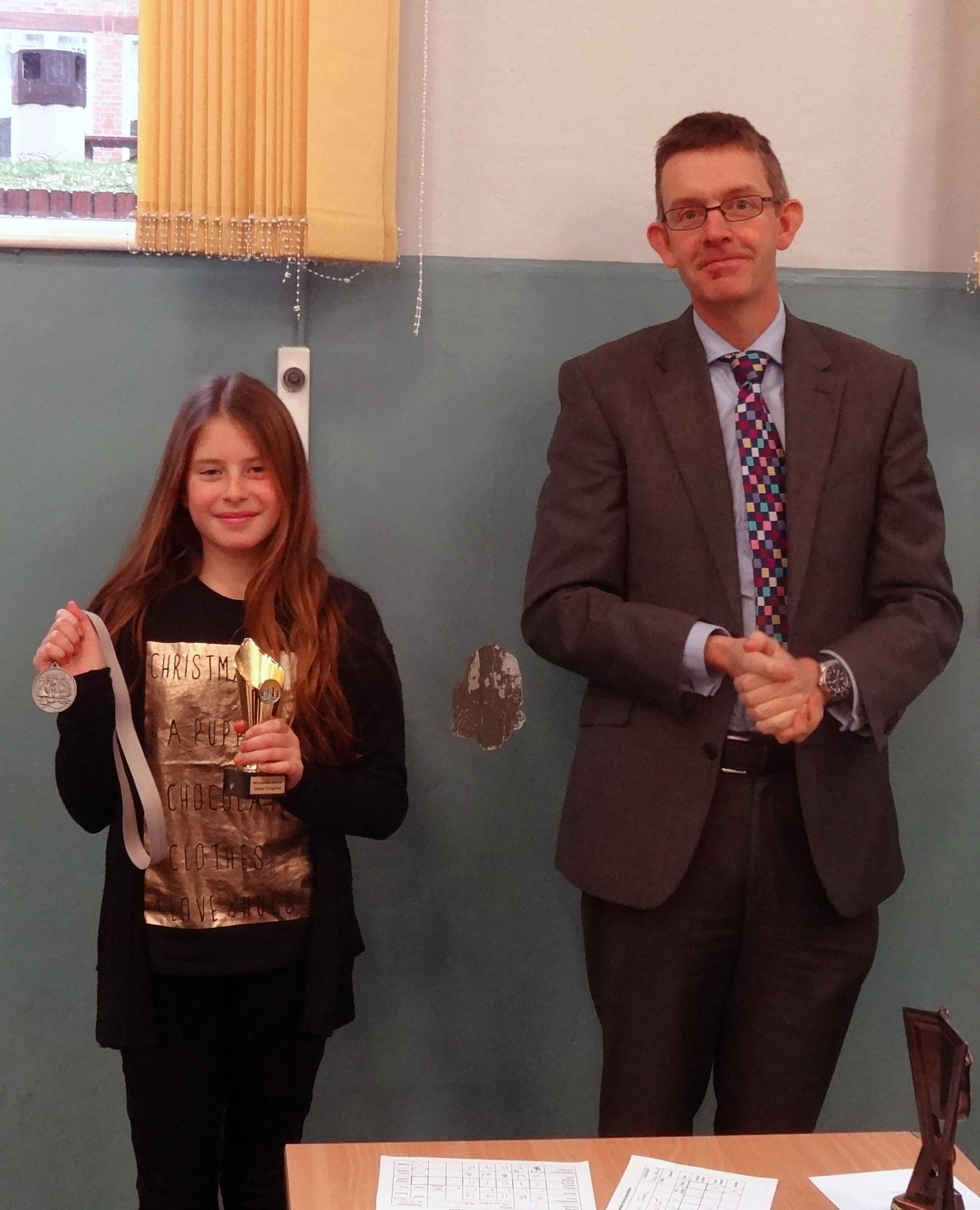 THE KING'S SCHOOL: Tamara Marsden with trophy (left) and Jon Ricketts (right)