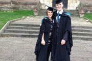 CELEBRATIONS: Michael Aide and Anna Humphries at the graduation ceremony.Picture by Heart of Worcestershire College