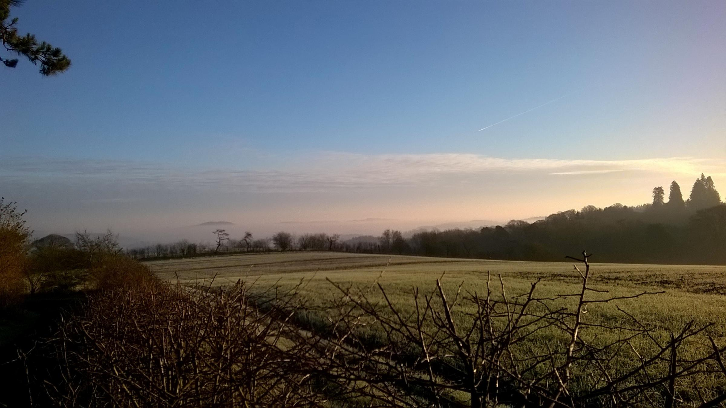 The wintry landscape of the Brockhampton estate - the perfect spot to try out Nordic Walking? (53150545)
