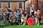 Re-enactors from the past 2000 years of history came  together for a photocall to promote the Living History event which will be held at the Commandery, Sidbury, Worcester on Saturday 13th and Sunday 14th of February 2016. Pic Jonathan Barry 0516001208. (
