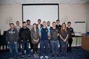 VISIT: Luke Baldwin with the college pupils.Picture by Heart of Worcestershire College