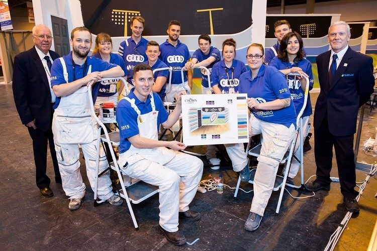 FINALS: The 2015 Apprentice Decorator of the Year finalists at the NEC in Birmingham. (58233603)