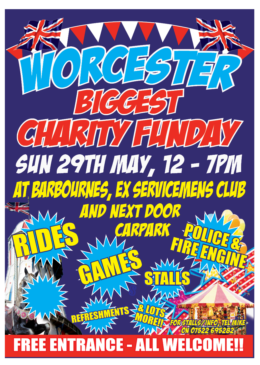 Worcester's Biggest Charity Fun Day Event In Aid Of Cancer Research UK And Acorns