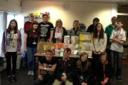 DONATION: The students at their pop up shop which benefitted a Redditch charity.Picture by Heart of Worcestershire College
