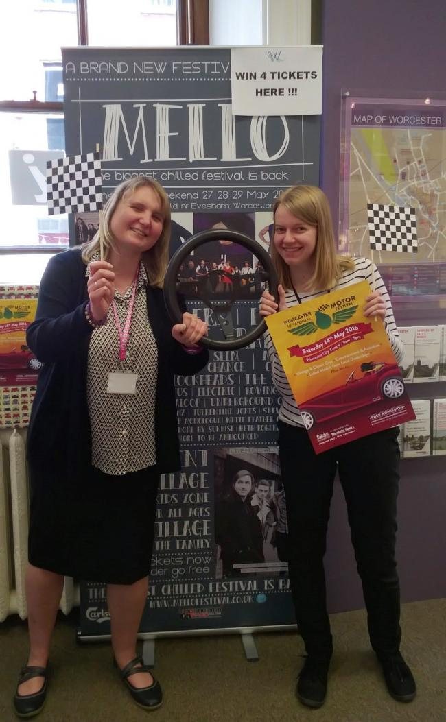 COMPETITION: Tracey Clarke and Delfien Taillieu from Worcester Tourist Information Centre