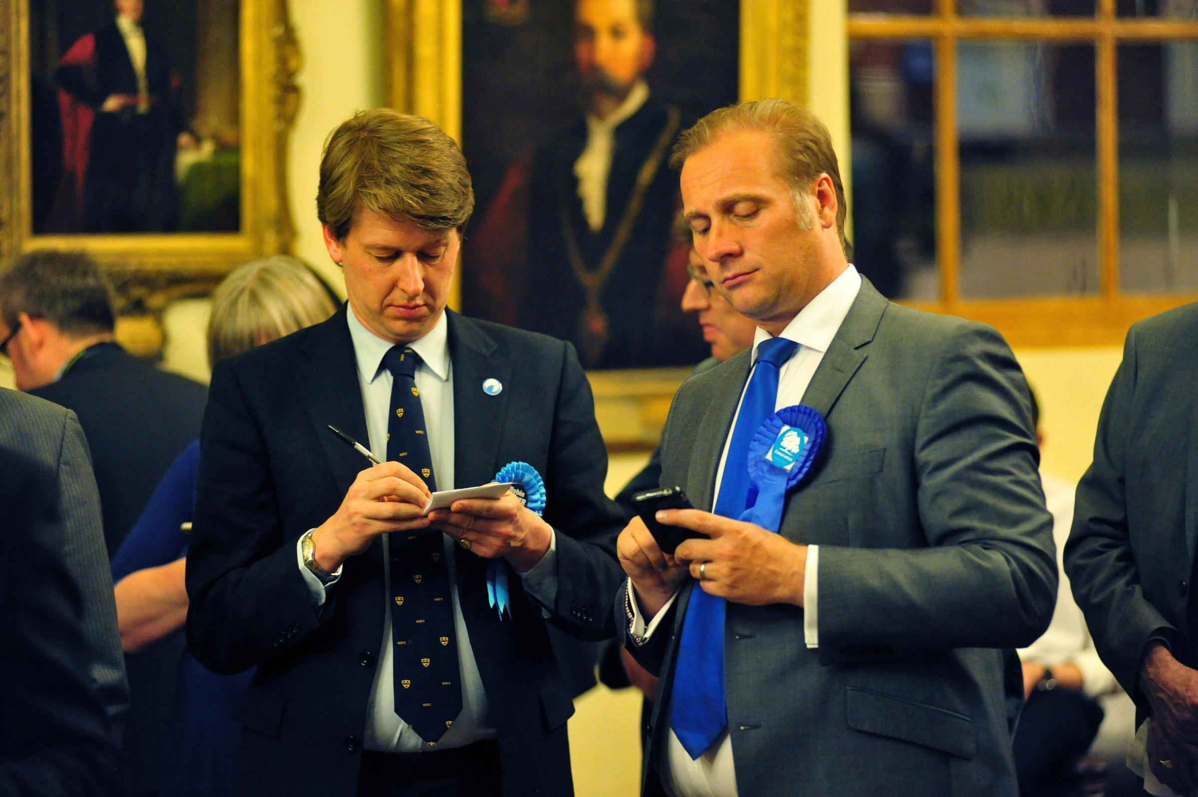 DUO: Conservative MP Robin Walker, left, with Worcester City Council leader Councillor Marc Bayliss.