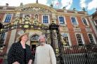 LEADER: Councillor Adrian Gregson, the city council's leader outside the Guildhall with deputy leader Councillor Joy Squires.