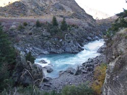 SCENE: The section of the Kawarau River Gorge where Miss Jordan drowned