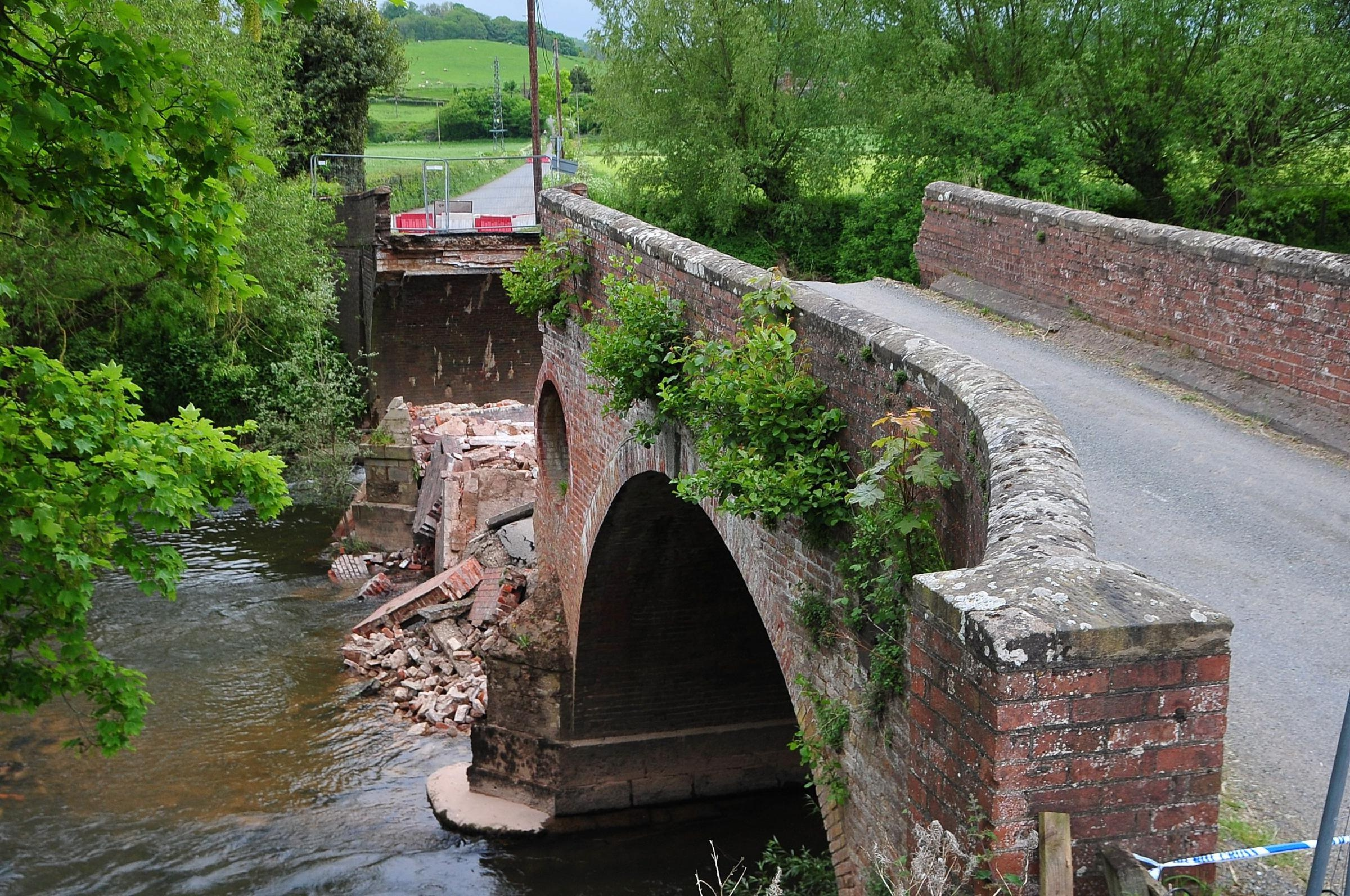 View of the damage to Eastham Bridge, following the collapse on Tuesday (Picture by Jonathan Barry 211605270)