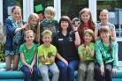 Becky Favier, Wildlife Care Assistant at the Vale Wildlife Hospital, Beckford, with pupils at Perdiswell Primary School, Worcester, during their annual Eco Day, held at the school. Pic Jonathan Barry 27.5.16  211605310.