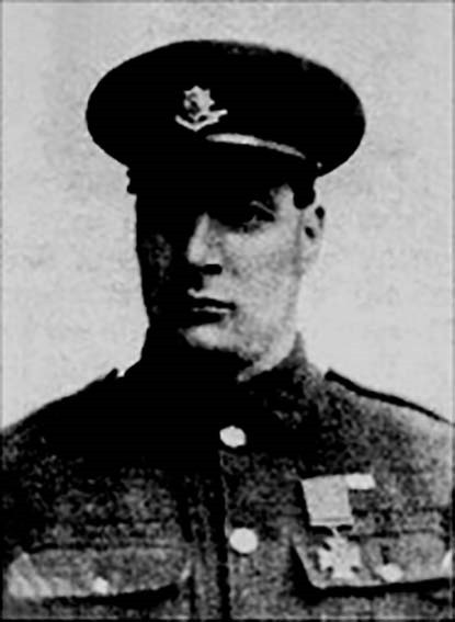 BRAVE: Private Thomas Turrall who was awarded the Victoria Cross for his bravery during the First World War
