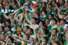 Republic of Ireland fans celebrate their team's win over Italy - and hope for another victory against France
