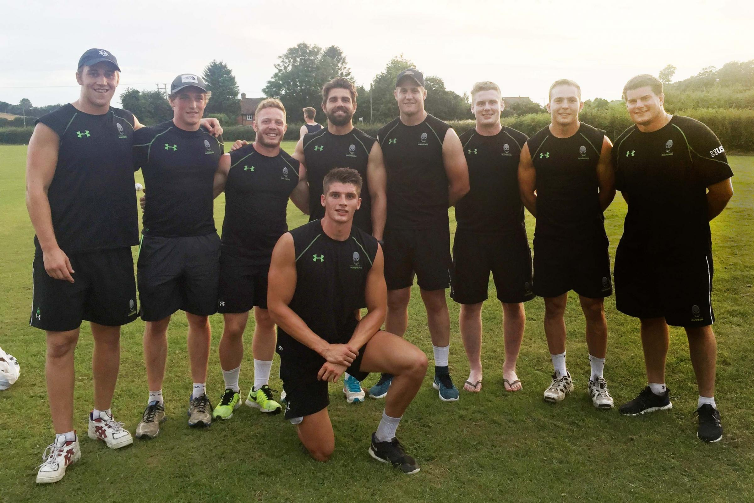 Fundraiser: Around 200 people watched Worcester Warriors' players triumph in a cricket match against Martley at Jewry Field on Tuesday.