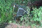A trolley in Charity Brook