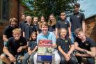 SHOW TIME: Youngsters from Worcester Operatic and Dramatic Youth Section (WODYS) pictured with city MP Robin Walker ahead of their production of Les Miserables (Picture supplied by Beverly Abbs)