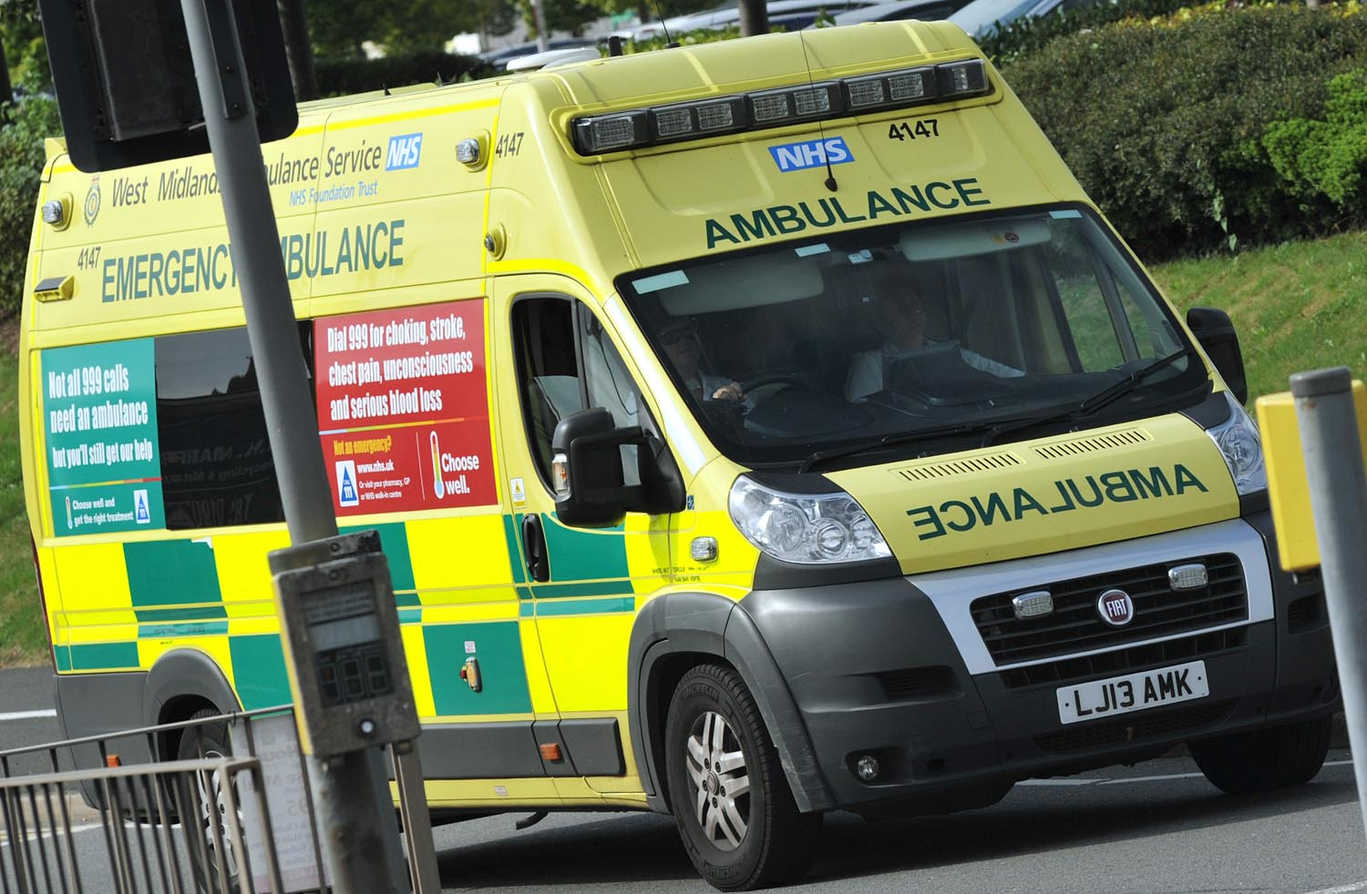 Woman taken to hospital after two-car crash in Stoke Prior