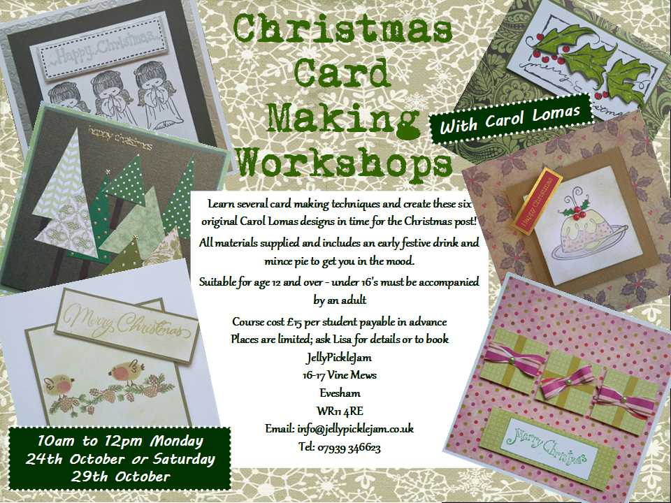 Christmas Card Making Workshop