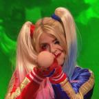 Worcester News: Holly Willoughby admits she's worse for wear while dressed as Harley Quinn on Celebrity Juice