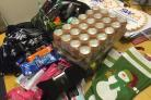 Stocking fillers ready to be packed for Maggs Day Centre