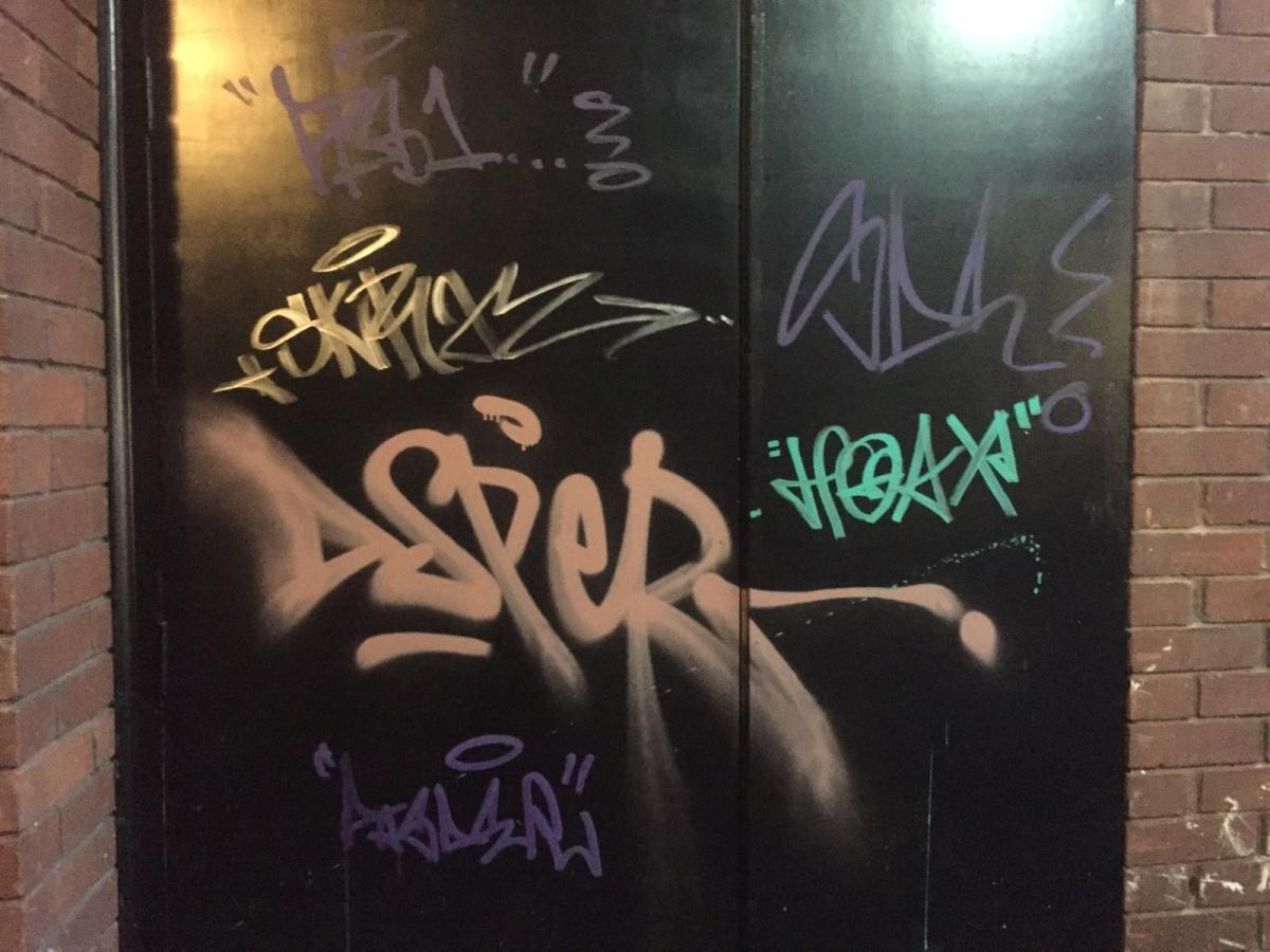Who Is Behind The Ugly Graffiti Spreading Across The City Centre