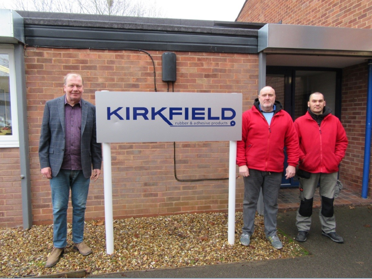 GRANT: Tony Flood, Paul Baker and Seb Kozielewski from Kirkfield, which has previously benefitted from a BEEP grant