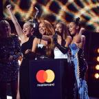 Worcester News: Little Mix give shout out to their exes as they collect Brit Award for Best Single