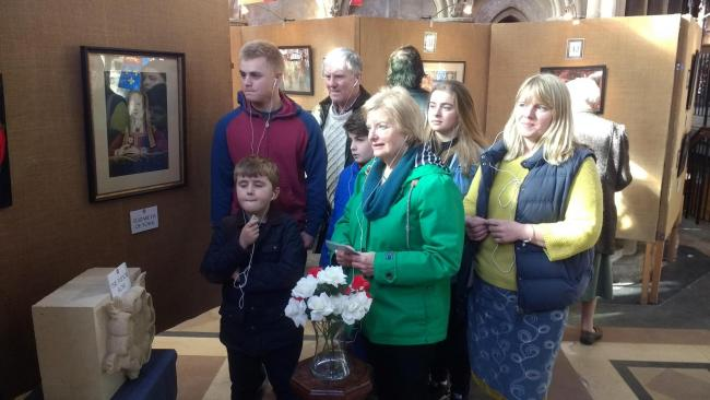 Three generations of a Bewdley family enjoy the exhibition. Pictured are Neil and Rhona Humphries (grandparents), Julie Roff (mother), William Roff aged 17, Imogen Roff, 14, Finbarr Doyle, ten, and Ossie Doyle, eight.