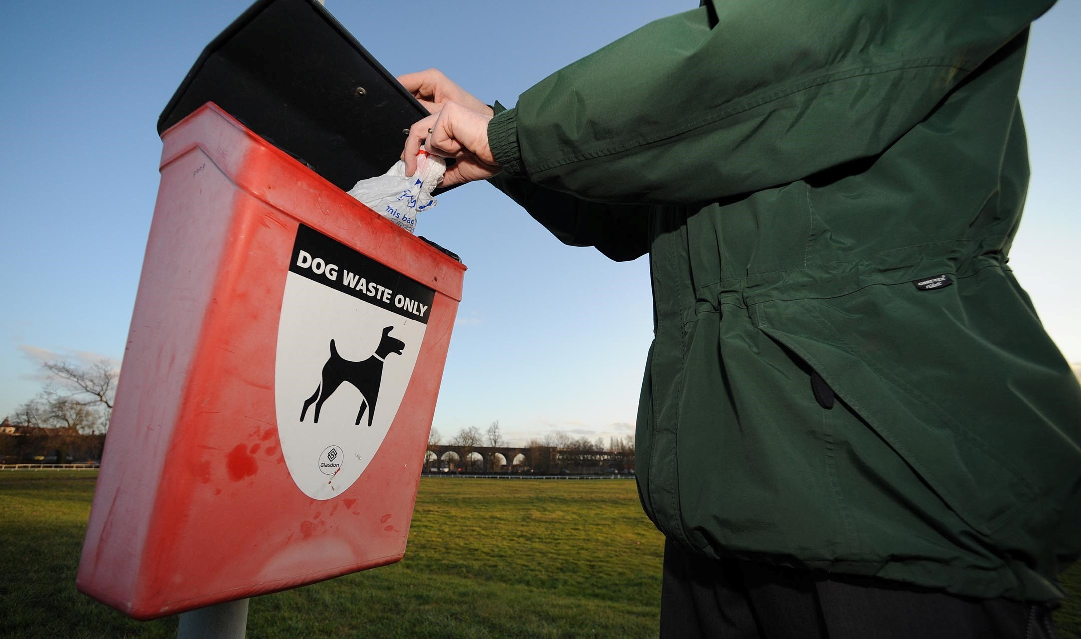 Jonathan Barry - 05/02/10. Pic of dog waste bin on Pitchcroft..