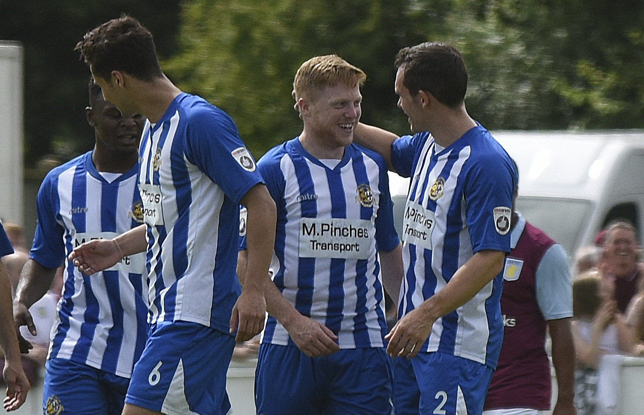 Matt Birley (centre) was an unused substitute in Worcester City's 2-2 draw with Darlington.