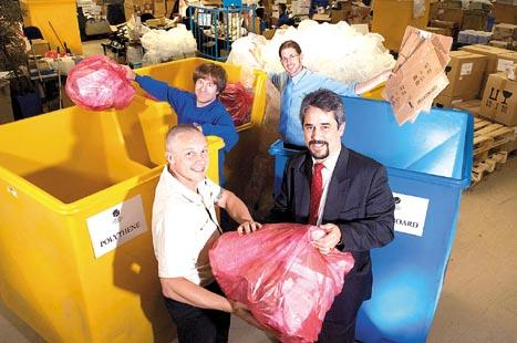 Sorting through the bins are Nisbets' factilites manager Jerry Beeston and Waste Efficiency operations director Paul Clutterbuck.