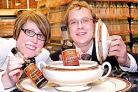 Becky Pritchard and Scott Maddison launch the Official Dish of Worcestershire search. Picture: Martin Humby. 14355601