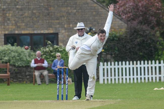 Greg Leighton helped Bromyard bowl out Worcester Nomads for 115. Picture: MIKE EDEN