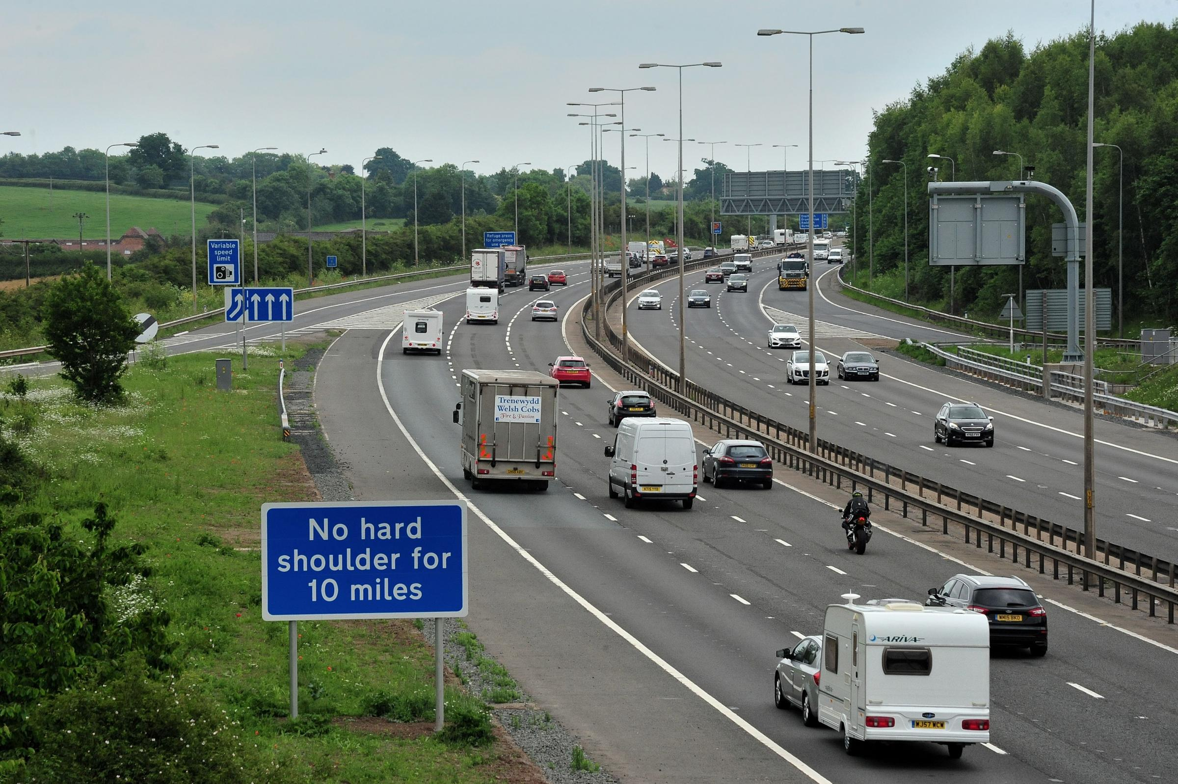 The M5 around Worcester has been upgraded to a 'smart motorway'