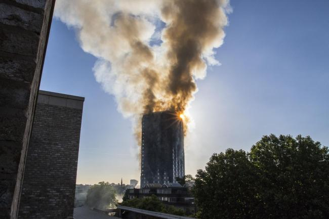 BLAZE: Fire tore through Grenfell Tower, in west London