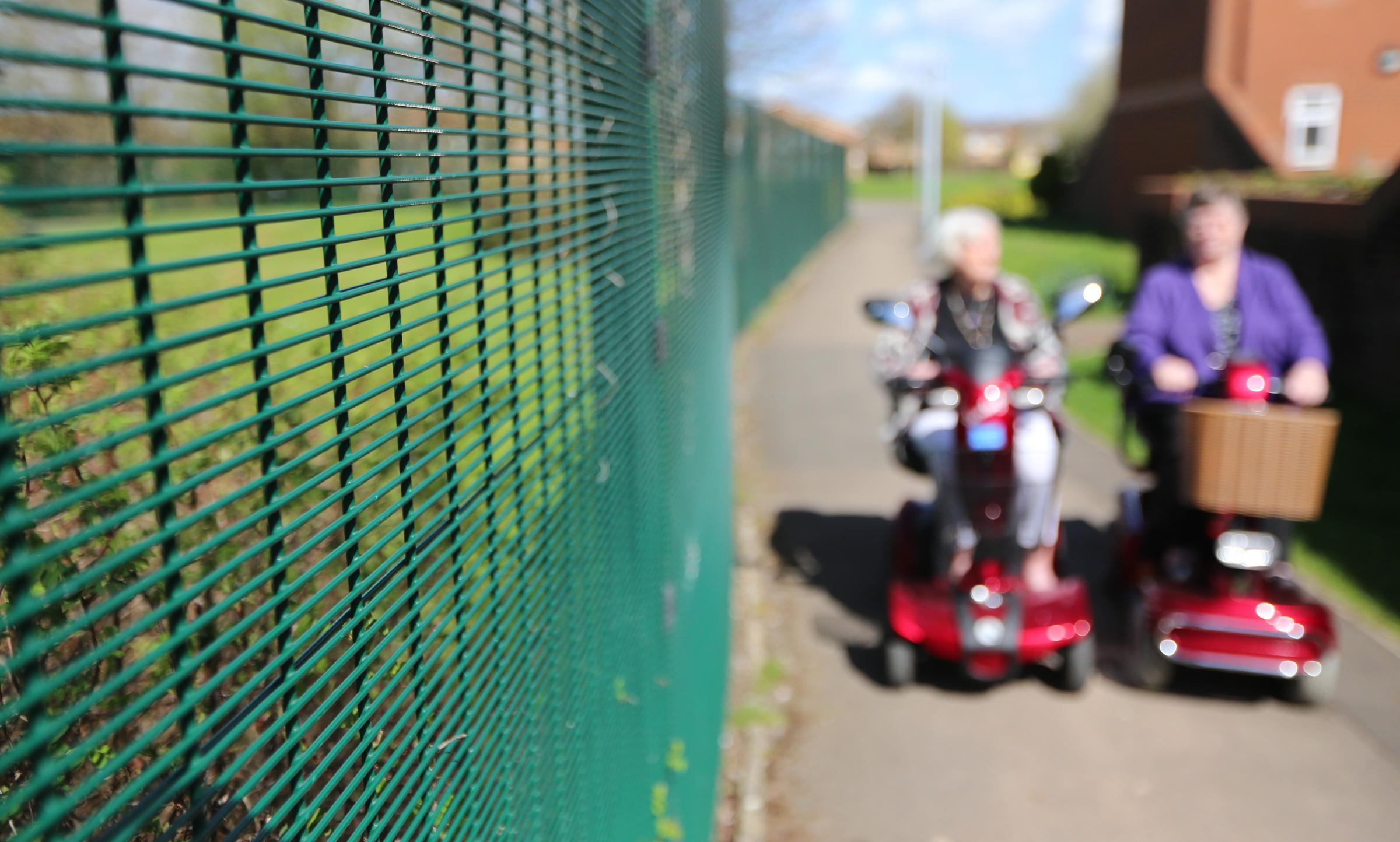 ABUSE: Drivers were rude to mobility scooter user Yvonne Carter as she rode on the road. Library picture