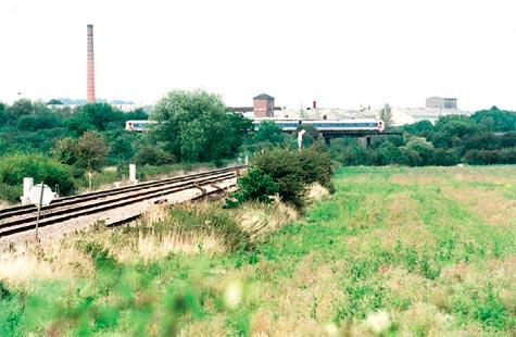 Worcester News: The land where Worcestershire Parkway will sit, in Norton