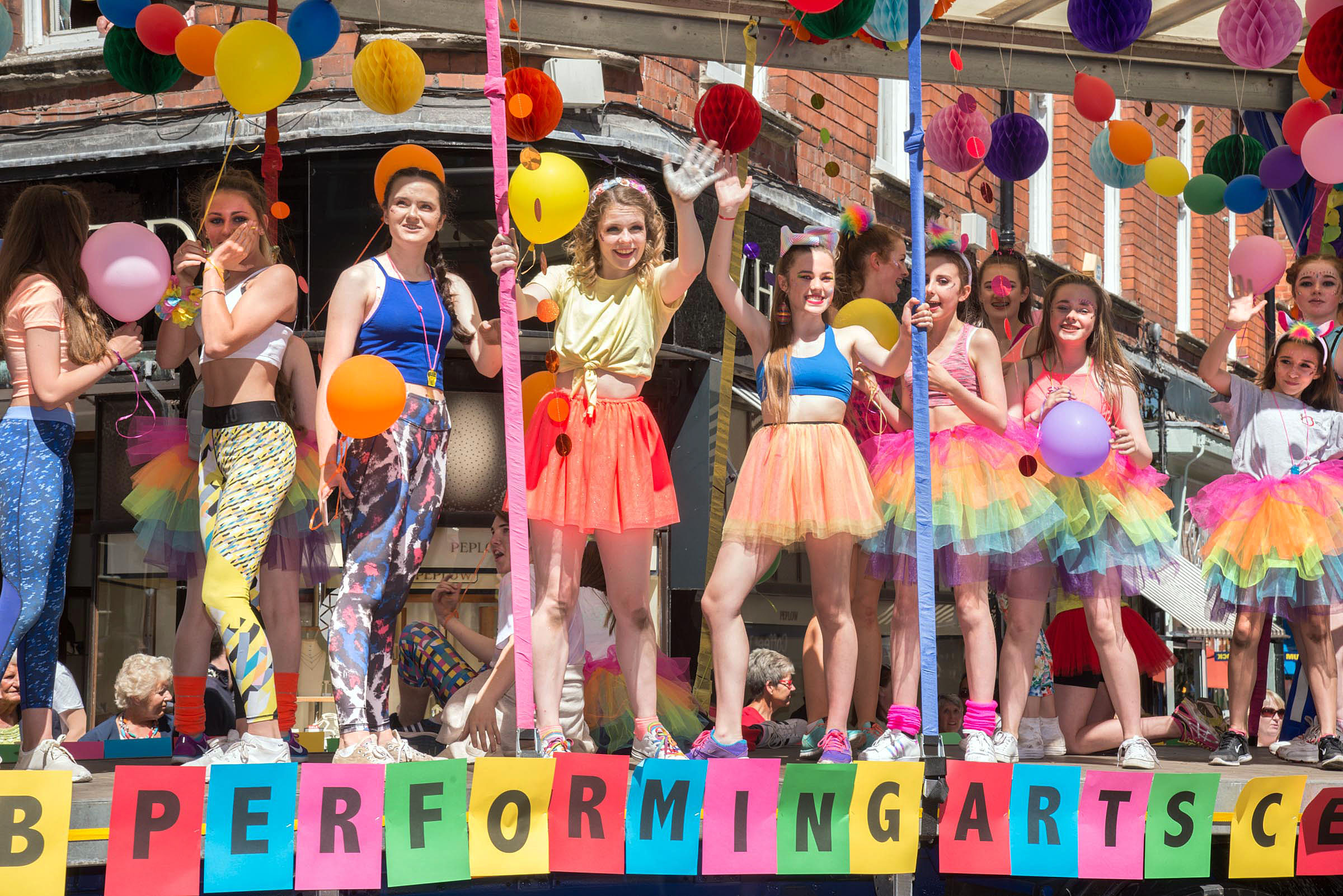 COLOURFUL: Studio B Performing Arts Centre at Worcester Carnival