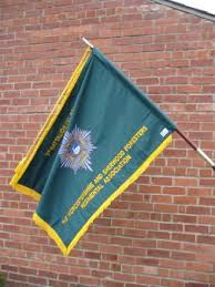The banner of the Worcester and Sherwood Foresters Regimental Association