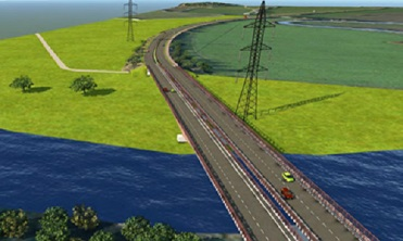 An artist's impression of a new, widened, Carrington Bridge. But it won't solve traffic problems, says a councillor