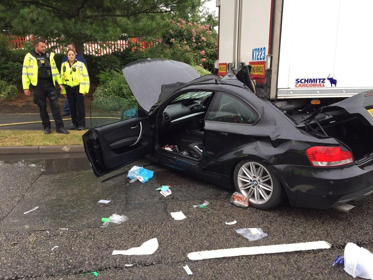 """one person hurt in """"serious"""" crash between car and lorry at vale"""